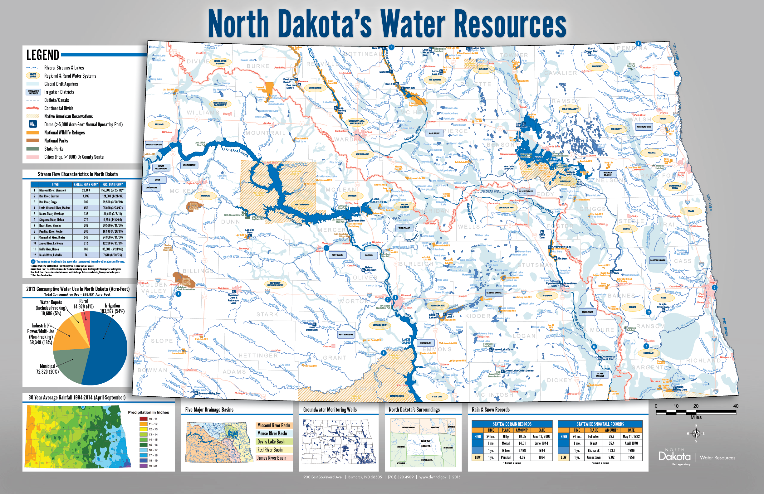 ND State Water Commission - North dakota rivers map