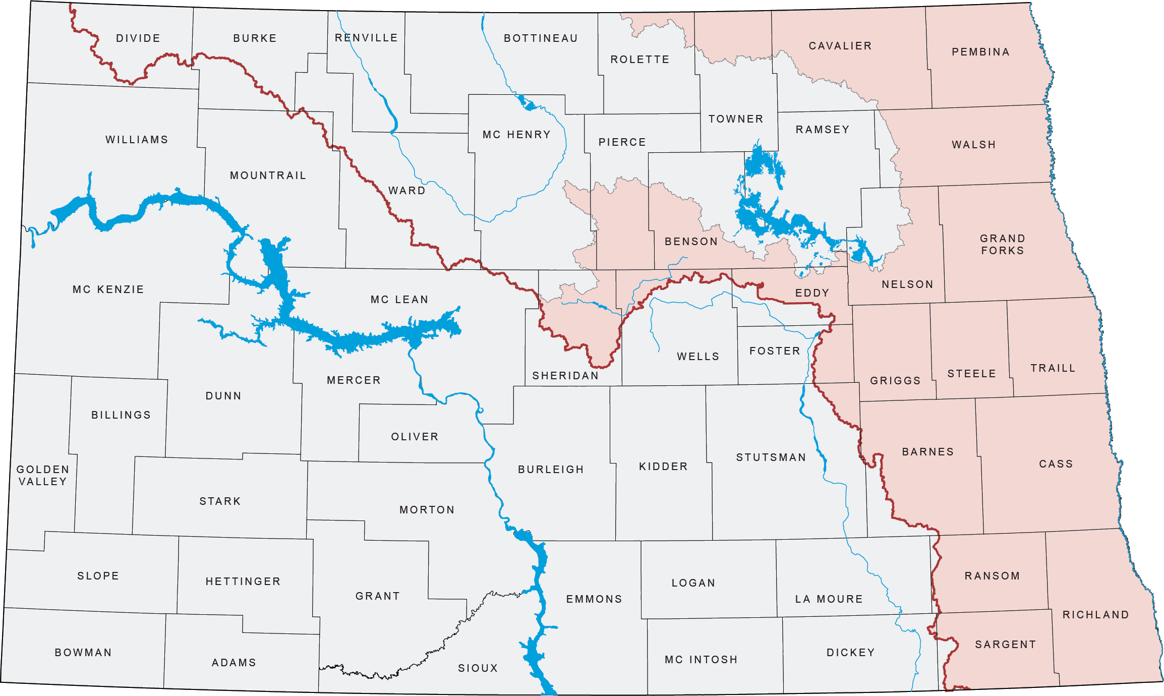 Nd state water commission from its origin at the confluence of the ottertail and bois de sioux rivers at wahpeton north dakota and breckenridge minnesota the red river winds sciox Images